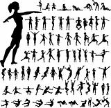 79 women`s silhouettes