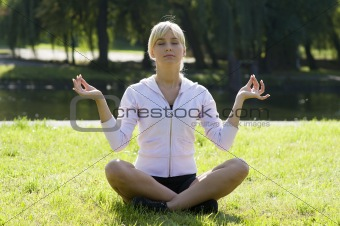 classic yoga pose