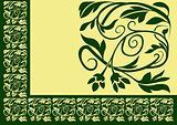 Floral border 02