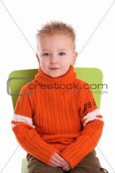 Posing little boy