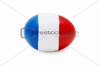 French Easter Egg (isolated on white)