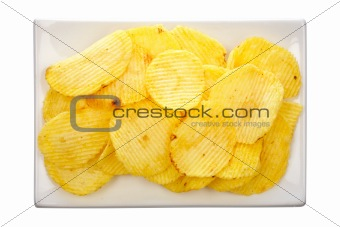 Potato chips on a plate