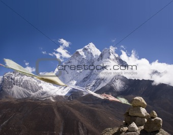 Ama Dablam Prayer Flags - Nepal