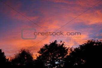 Autumn sunset in Montana.