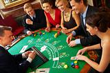 BlackJack Table. Friends having a good time!