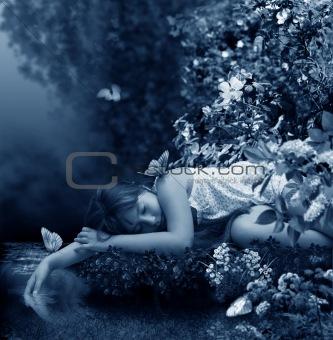 Sleep in stream.