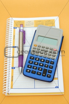 calculator and planning book