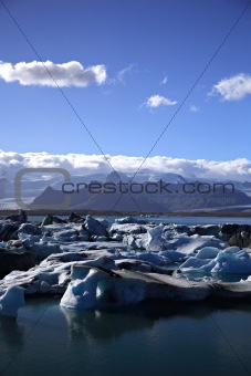 Masses of icebergs