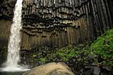 Svartifoss waterfall and basalt columns