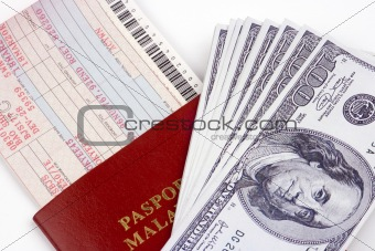 Airline Ticket And Money