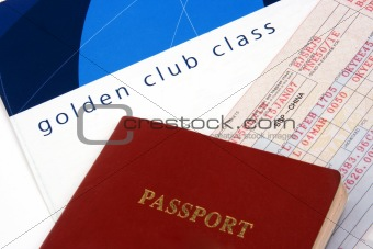 Close Up on Airline Ticket