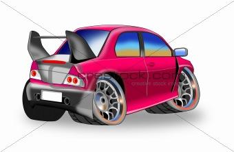 cartoon style car