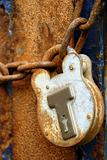Rusty Padlock and Chain