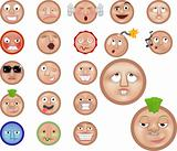 a set of emoticons