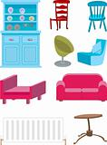 A selection of furniture.