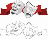 Theatre comedy and tragedy masks.