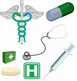 Medical objects/ icons
