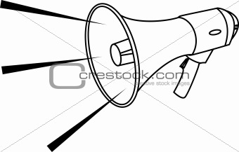 Vector illustration of a megaphone