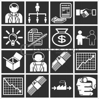 Business icon set series