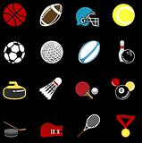 series of sport icons