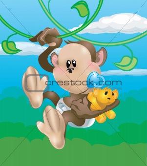 cute baby monkey