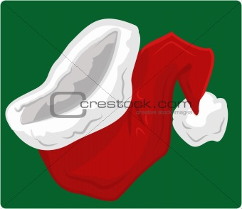 A big red santa hat