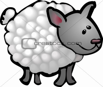 A cute sheep