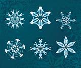 some snowflakes