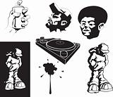 vector urban motifs/ stencils