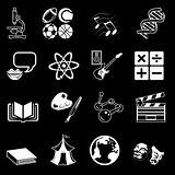 a subject category icon set