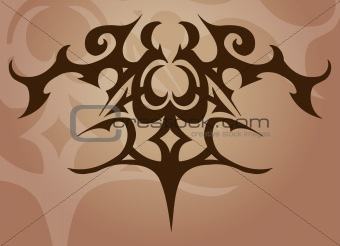 A tattoo like vector element/ background
