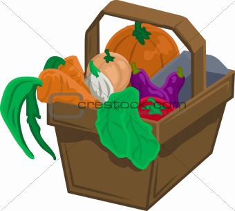 Basket of vegetable/ produce