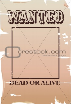 a vector wanted poster