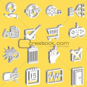 a set of internet web icons