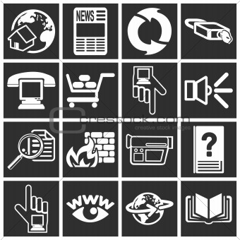 a set of internet web icons