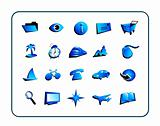 Icon Set General - Blue