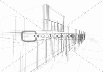 wireframe abstract
