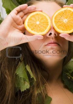 Beautiful portrait with orange