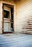 door of haunted house
