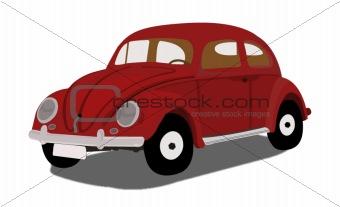 oldtimer car illustration