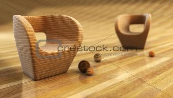 armchair 3D rendering