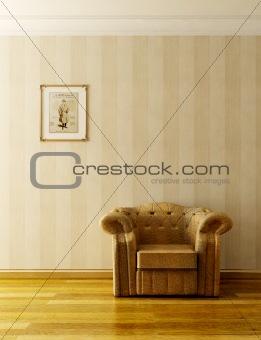 classic sofa 3D rendering
