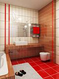 3d bathroom rendering
