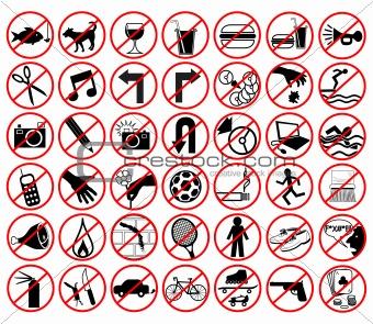 Forbidden icons