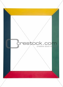 A colorful wood  frame isolated on white