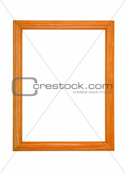 A wooden frame isolated on white