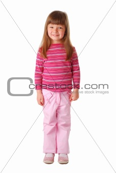 Little casual girl