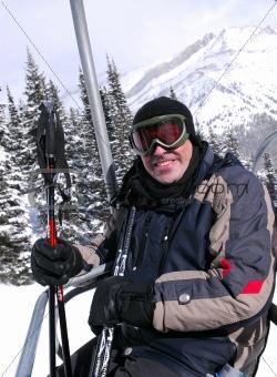 Happy skier