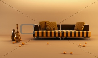 modernstriped couch