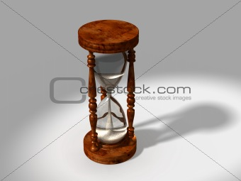 3d generated hour glass